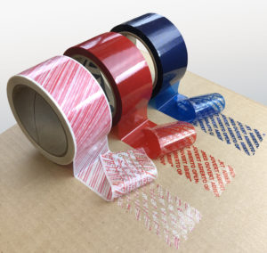 Tamper Evident Packing Tape Voided